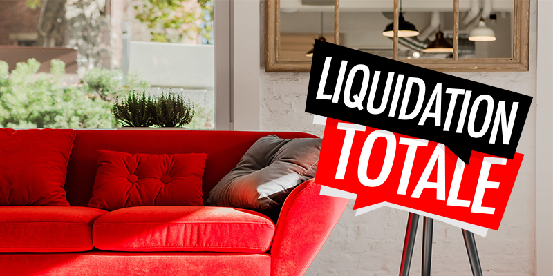 liquidation totale du magasin avant le changement d'adresse